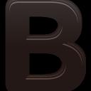 text, bold icon