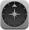 navigate, browser, compass icon