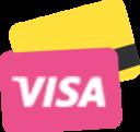 cart,visa icon