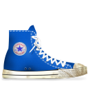 tip, converse, energy, blue, dirty, light, hint icon