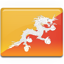 bhutan, flag, country icon