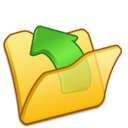 folder,yellow,parent icon