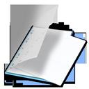 bleu, documents icon