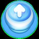 Button Blue Arrow Up icon
