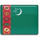 turkmenistan, country, flag icon