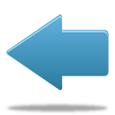 up, blue, arrow, back icon