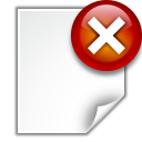 actions document close icon