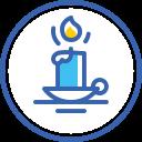 new, year, christmas, свеча, candle, новый год icon