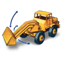 shovel, tractor, hatra icon