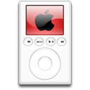 mp3 player, alternative, ipod, red icon