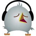 twitter, headphones, bird icon