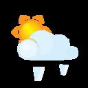 sun,lightcloud,grain icon
