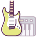 guitar, electronics, play, audio, music, appliance, piano icon