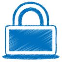 blue lock icon