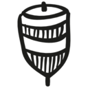 Spin hand drawn toy icon