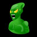 cartoon, green, goblin, spiderman icon