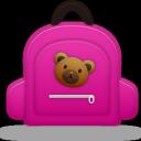 girl, schoolbag icon