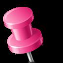 push, pink, pin, left, base, marker, map icon