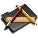 Applications, Black, Folder, Programs icon
