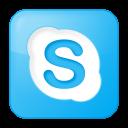 social skype box blue icon