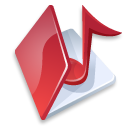 red, music, folder icon