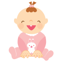 baby laughing icon