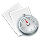 document, my recent, paper, recent, file icon