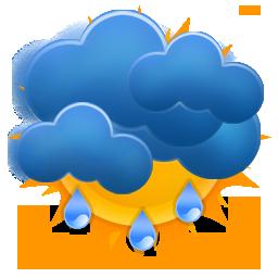 medium, rain, sun, weezle icon