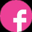facebook, social, pink, round, media icon