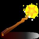 Witch stick icon