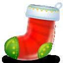 boot, sock, christmas icon