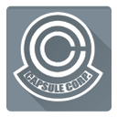 dragon ball, capsule, capsule corporation, corporation icon