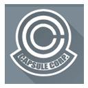 dragon ball, capsule, capsule corporation, corporation icon