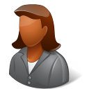 dark, female, client icon