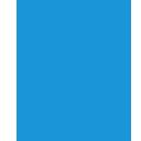 microscope, blue icon