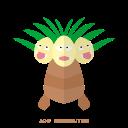 pokemon, psy, exeggutor, grass, kanto icon