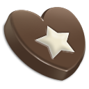 heart, favourite, bookmark, chocolate, star icon