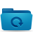 blue, backup, folder icon