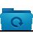 folder, backup, blue icon