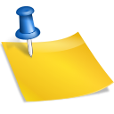 note, sticky icon