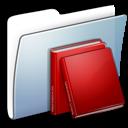 Folder, Graphite, Library, Smooth icon