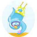 Summer diving icon