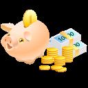 money, piggy bank, cash, pig, coins, safe icon