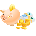 money, safe, piggy bank, coin, pig, cash, currency icon
