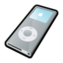 nano, silver, ipod, mp3 player icon