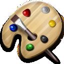 paint, brush, palette, art, drawing, color icon