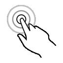 gestureworks, one, finger, tap, triple icon