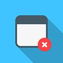 Browser window close window icon