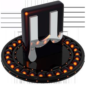 orange, u torrent icon