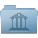 Blue, Folder, Library icon
